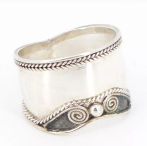 Vintage Sterling Bali Braided Ring sz 8